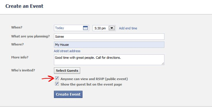 Facebook Event? Watch Your Settings. | GoGoStat Parental Guidance